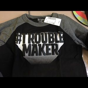 NWT! Children's Place 4T #troublemaker